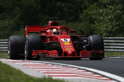 Hungarian GP: Vettel fastest for Ferrari, both Mercedes spin