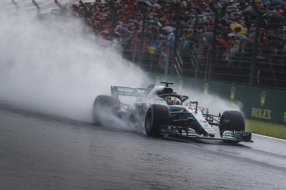 Hungarian Grand Prix: Lewis Hamilton tops Mercedes front row in wet