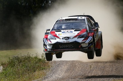 WRC Finland: Toyota's Ott Tanak closes on win as Lappi crashes out