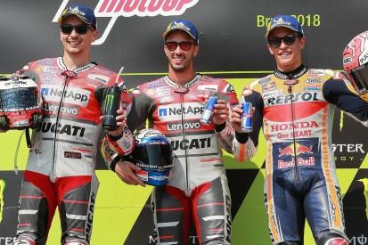 MotoGP Brno: Dovizioso edges win fight over Lorenzo and Marquez