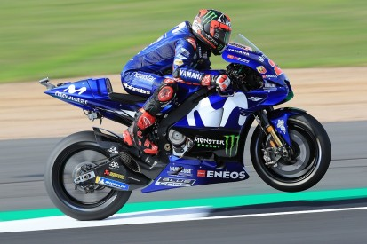 Silverstone MotoGP: Vinales leads Rossi, Marquez crashes