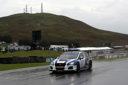 Knockhill BTCC: Ash Sutton charges from eighth to win in wet