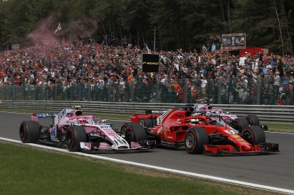 Force India F1 driver Ocon needed 'one metre' to lead Belgian GP