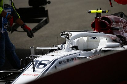 Charles Leclerc feels 'lucky' after seeing Belgian GP halo damage