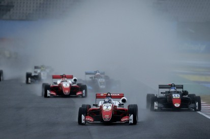 Misano European F3: Aron wins wet final race as Armstrong spins out