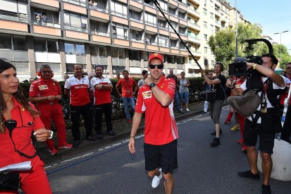 Minor crash for Vettel in Milan F1 live demo ahead of Italian GP