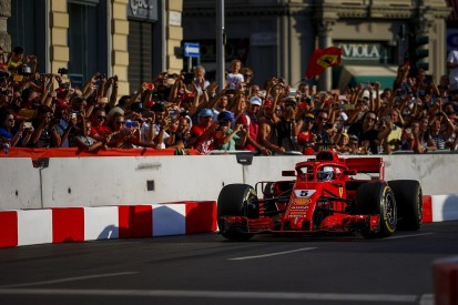 Vettel Milan F1 crash: Steering wheel error caused demo-run shunt