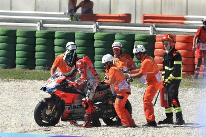 Lorenzo blames 'rock'-like medium tyre for Misano MotoGP crash