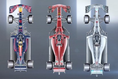 How the top F1 teams' wheelbase and rake compares in 2018