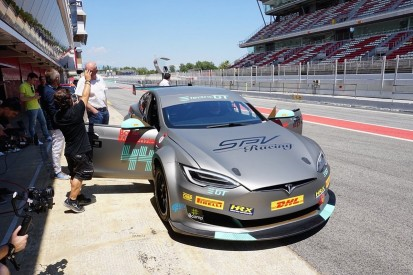 First race-ready Tesla delivered to Electric Production Car Series team