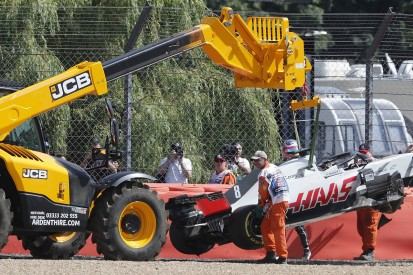 British GP: Grosjean to miss FP2 after DRS crash in first practice