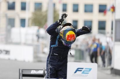 F2 Baku: Alexander Albon scores maiden win in frantic feature race