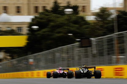 Renault drivers surprised by Force India's Baku F1 performance