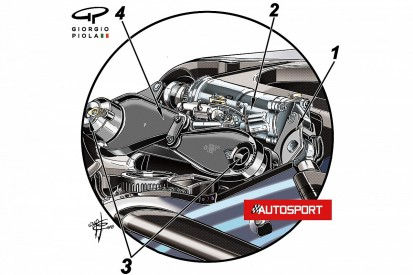 Secrets of Mercedes Formula 1 car's front suspension