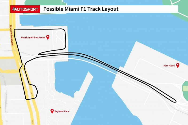 First images of proposed Miami Formula 1 circuit layout revealed