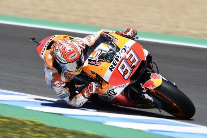 MotoGP Jerez: Marquez tops warm-up but crashes again