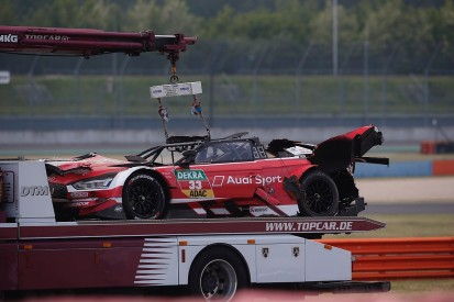 DTM champion Rast in hospital after huge race one Lausitzring crash
