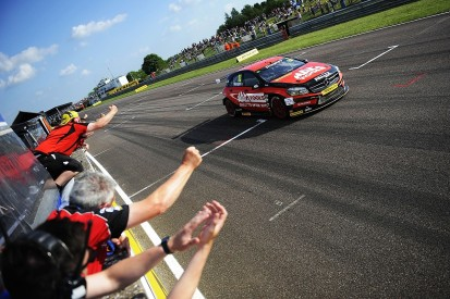 BTCC Thruxton: Adam Morgan holds off Jack Goff for race three win