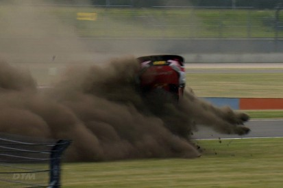 Audi drivers explain Rene Rast's huge DTM crash at Lausitzring