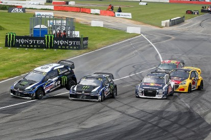 WRX Silverstone: Kristoffersson overcomes clash with Solberg to win