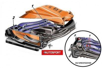 The new F1 front wing McLaren didn't risk racing in Monaco