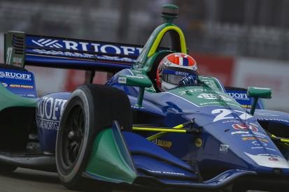 IndyCar Detroit: Points leader Rossi dominates wet qualifying