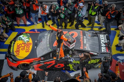 NASCAR Cup: Martin Truex Jr holds on for victory at Pocono