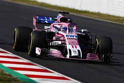 F1 testing: Force India not leading midfield pack - Sergio Perez