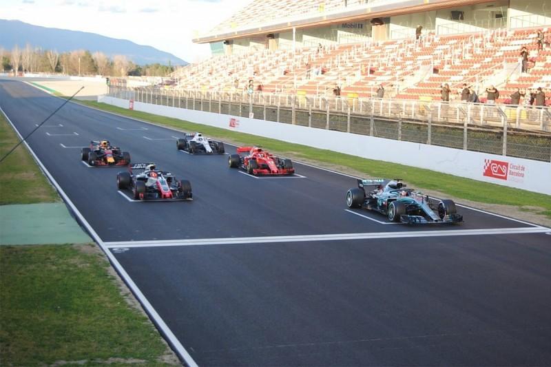 FIA testing standing restart procedure at second pre-season F1 test