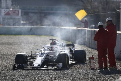 Charles Leclerc angry with 'stupid' error in F1 testing