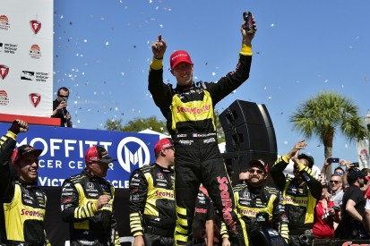 IndyCar St Petersburg: Bourdais wins after late Wickens/Rossi clash