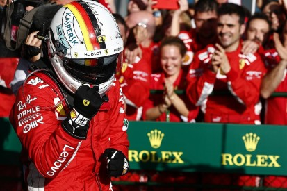 Vettel: Australian GP win 'lucky', Ferrari not a match for Mercedes