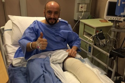 Injured Ferrari F1 mechanic has successful surgery on broken leg