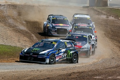 Barcelona World Rallycross: Solberg leads into semis, Loeb out
