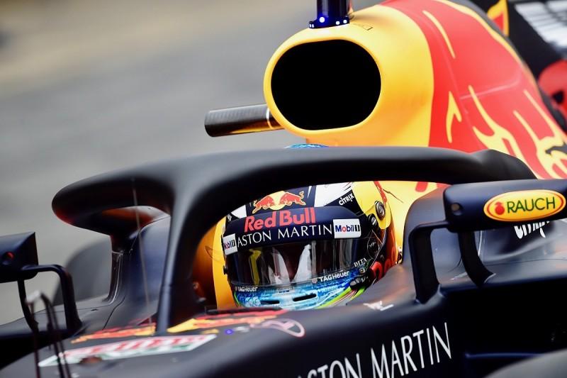 F1 testing: Daniel Ricciardo tested start visibility with halo