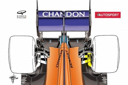 McLaren 2018 F1 car's innovative rear suspension