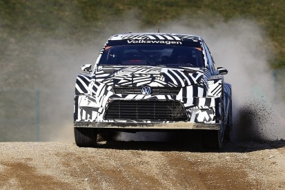Upgraded Volkswagen Polo for 2018 World Rallycross starts testing