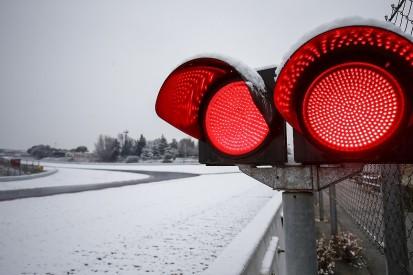 F1 testing: 'No point' running on snow-affected day three - Ferrari