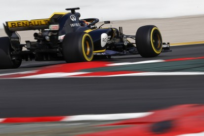 F1 testing: Renault's Nico Hulkenberg leads drying Thursday session