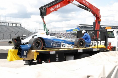Max Chilton crashes in practice just before Indy 500 qualifying