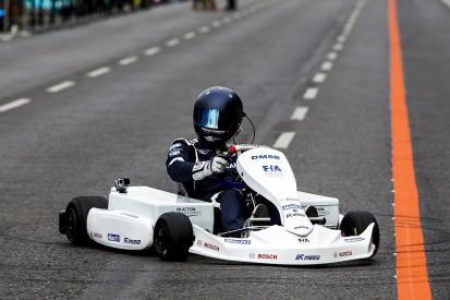 Electric kart makes debut, Formula E eyes support race