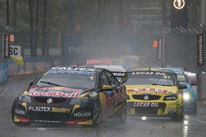 Homebush V8 Supercars: Jamie Whincup wins as downpour halts race