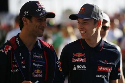 Daniil Kvyat doesn't fear 2015 Formula 1 team-mate Daniel Ricciardo