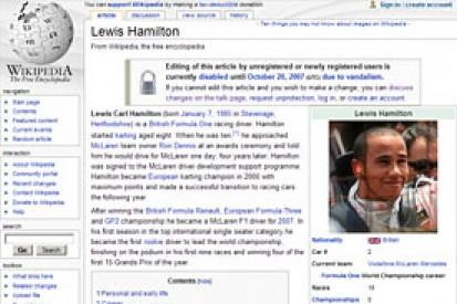Mercedes hunts for Wikipedia vandal