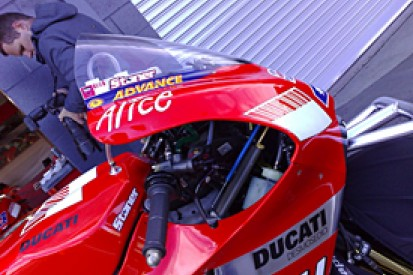 Ducati modify fairing for conditions