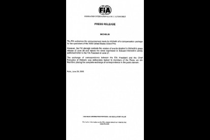 FIA Hit Back at Michelin in Tyre Row