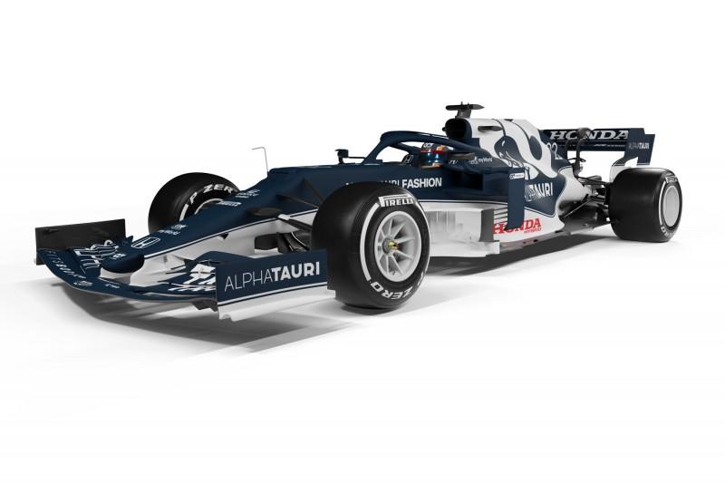 AlphaTauri stellt bei F1-Launch in Salzburg neues Auto AT02 vor