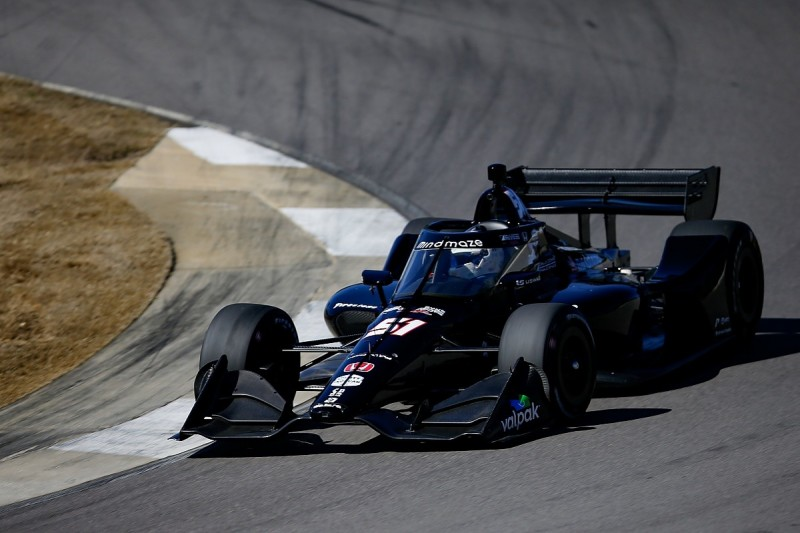"""Grosjean """"really happy"""" with IndyCar test despite spin and soreness"""