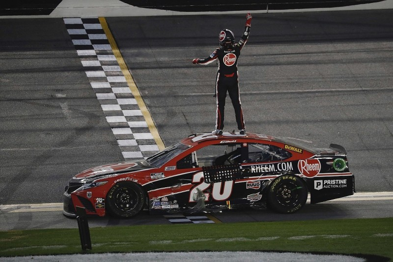 NASCAR Daytona road course: Bell passes Logano for first Cup win