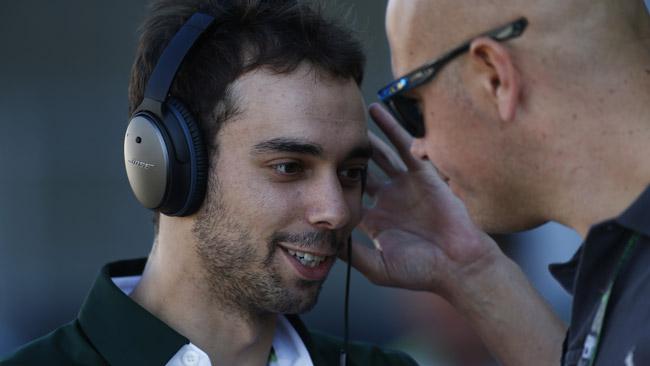 Nathanael Berthon con la Lotus LMP1 in Bahrein